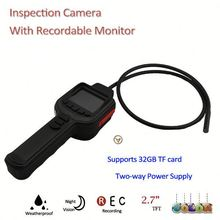 "420TVL 2M IR Snake Inspection infrared snake camera with 2.7"" TFT Monitor, Support Max. 32GB TF Card"