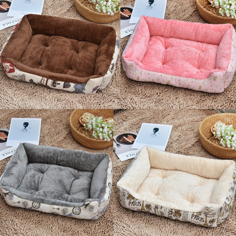Plush Pet Dog Winter Soft Bed, Comfortable Warm Pet Dog Sofa Nest