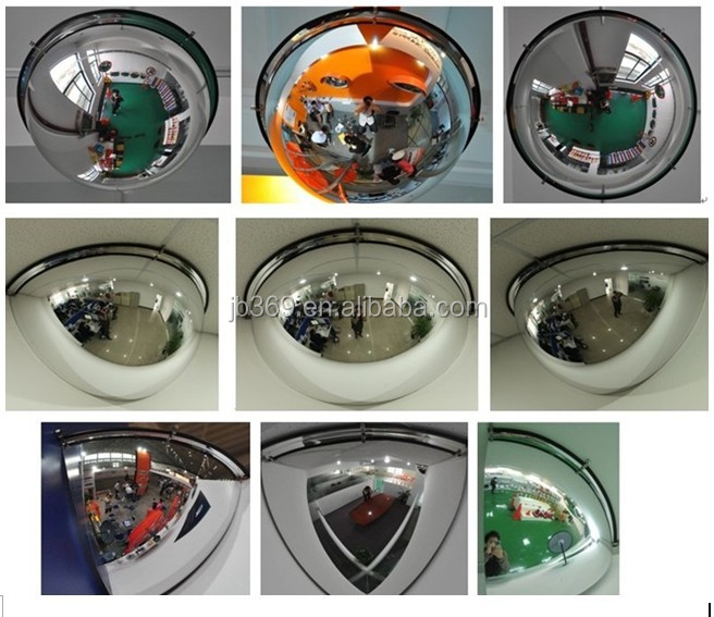 90 Degree Anti-Theft Quarter Dome Mirror Used for Shop