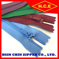 China manufacturer no 3 without cord 200y long chain nylon zippers for furniture