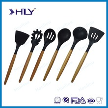 Eco-Friendly silicone kitchen utensils with beech wood handle