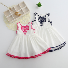 PHB60550 newly design summer 2017 kids girls new pattern dress