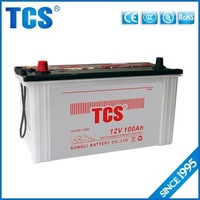 Dry charged best price 100Ah 12V automotive battery for car