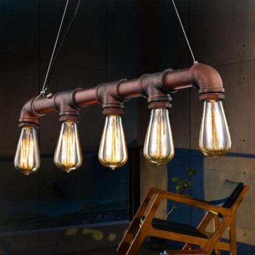 Industrial Steam Iron Pipe Lighting Ceiling Chandelier Pendant Loft Lamp