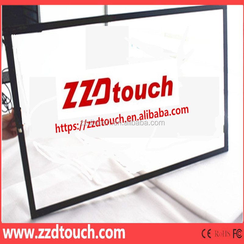 "2017 best price lowest shipping fee 65"" inch interactive multi touch IR screen overlay with alumium frame"