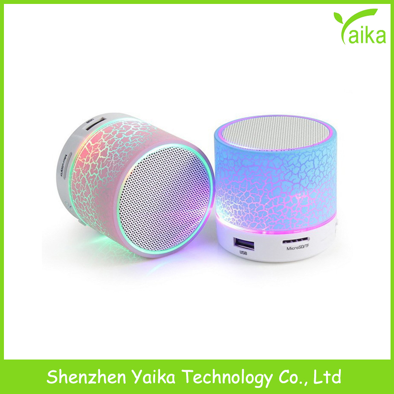 Yaika 2016 new products portal wireless multifunction mini music bluetooth speaker with light led bulbs