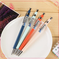 Hot new design for 2016 free sample pencils wholesale cute plastic mechanical pencil with 2H black lead made in china