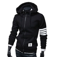 Free Shipping hot sale korean style men's zipper jackets hoodies