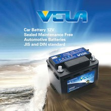 VELA brand mf lead acid car battery JIS 55D23R 55D23L Japanese car battery