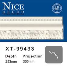 China decorative PU cornice/ crown/ interior ceilings pop design mouldings