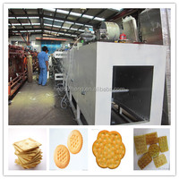Full Set New Design Gas Sandwich Biscuit Production Line