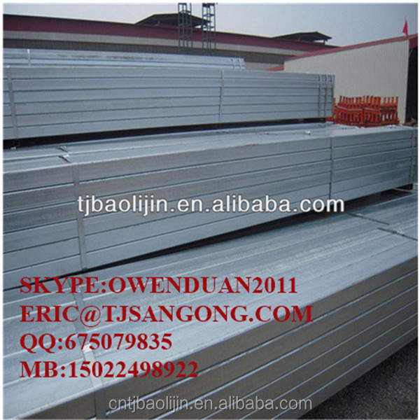 SPHC galvanized square steel pipe for construction