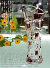 HOT Mouth-blown Tall wholesale clear glass vase