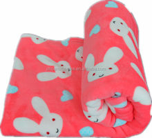 100% Polyester Super Soft Coral Fleece Baby Blankets Wholesale