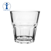 China Factory Wholesale New Design High Quality Coffee Octagon Clear Glass Tea Cup