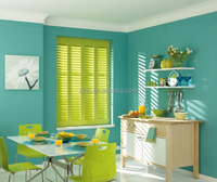 Custom- colored plantation shutters