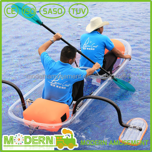 New water sports ride Cheap transparent ocean kayak for sale