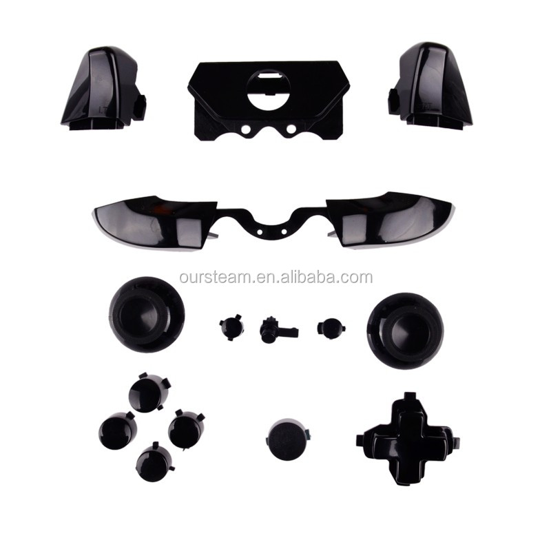 Solid Black ThumbSticks RT LT Triggers RB LB DPad ABXY Guide Buttons Mod Kit For Xbox ONE New Controller