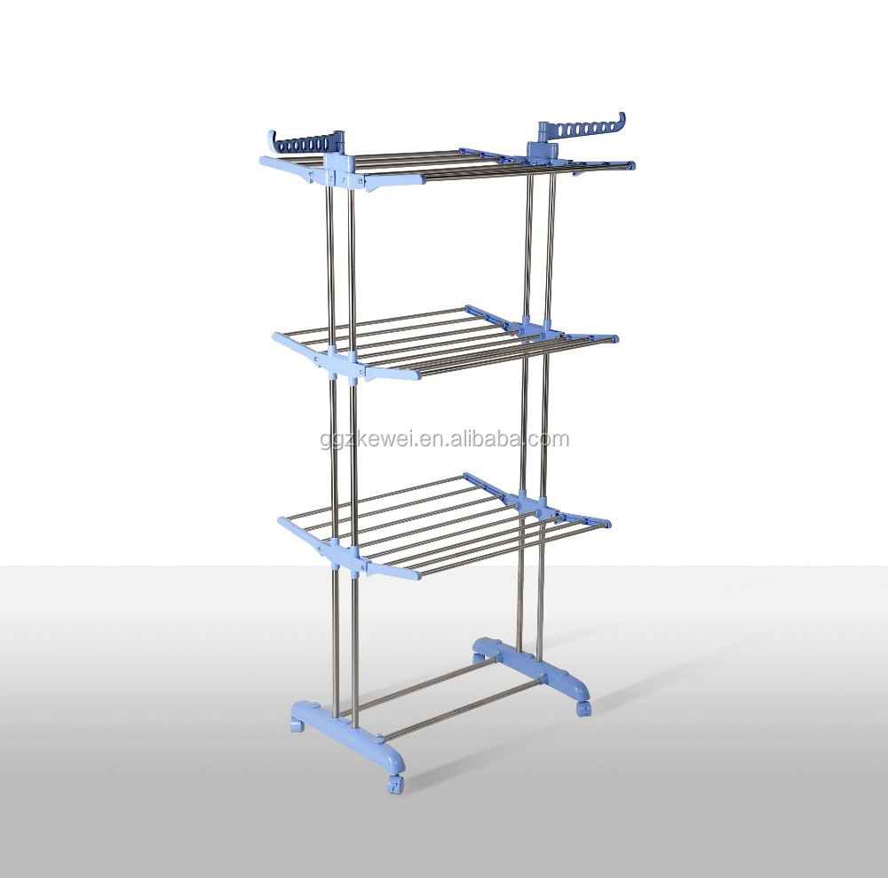 Stainless Steel Multifunctional Three Layers Clothes Rack Baby Hanger Rack MR-8031