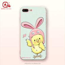 2017 new lovely chick phone case accessory phone cover TPU case with custom printing for iphone 7