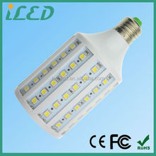 CE ROHS approved 5050SMD DC 12 volt 1300lm e27 corn led light bulb 15w warm white