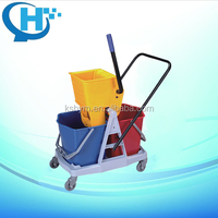 high quality double bucket Mops With Spray Water