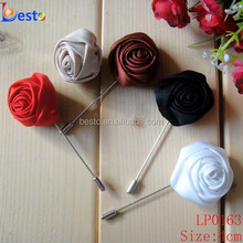 2016 High quality decorative lapel pin making machine custom fabric flower brooch for men suits wedding decoration