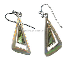 New Zealand Earring Abalone Shell tiiangle shape shell earring new design paua abalone shell earring