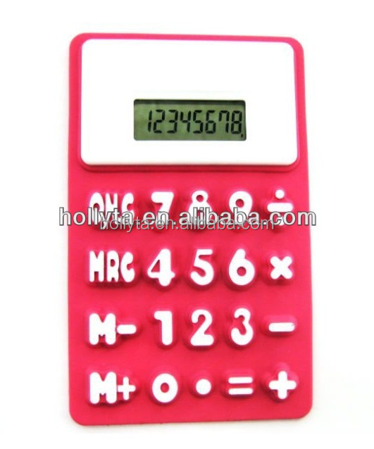 2014 new dual power 8 digits folding calculator with best price for gift