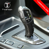Car Interior Sticker For1 2 3 4 5 6 7 X Series X3 X4 F15 F16 etc Carbon Gear Knob Cover Trim Only Left Hand Drive 2012 - U