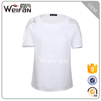 Adults Age OEM Crew Collar White Blank Woman Clothes Plain Dyed Women T Shirts