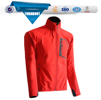 2016 wholesale new fashion red color plain polyester softshell cheap baseball spring jacket