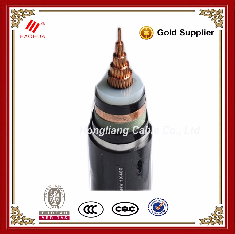 Copper conductor XLPE insulated 11kV 33kV high medium voltage underground power cable price and specifications 1608