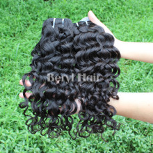 Cut from young girs Full cuticle best quality virgin brazilian Italian wave hair weave