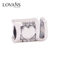 X322 Guangzhou China Wholesale Lovans Jewelry valentine's day Silver Charms