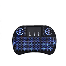 Mechanical keyboard fly air mouse 2.4g touchpad mini i8 backlit keyboard