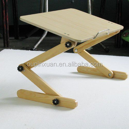 100% Bamboo Portable Laptop Desk Table Folding adjustable bamboo laptop table