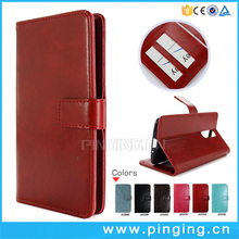low price crazy horse texture mobile flip cover for Gigaset ME , leather back case for Gigaset ME