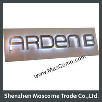 led electronic advertising board with backlit lighted letters signs