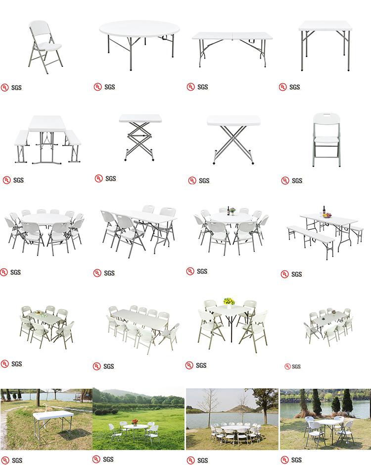 En gros Extérieur/Jardin/Pique-Nique Portatif Blanc En Plastique Chaises Pliantes Pour Événements Parties