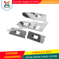 Interior inside door handle switch button window panel trim cover DOOR INSIDE PANEL COVER FOR TOYOTA COROLLA 2014