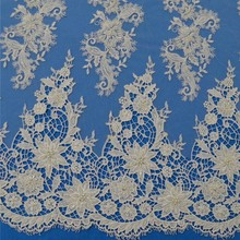 African austria swiss voile hand beaded lace water dissolving fabric
