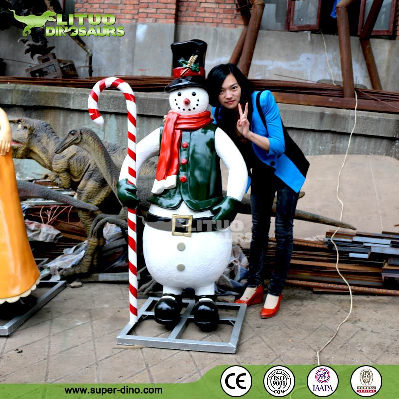 Amusement Park Lifesize Animatronic Snowman