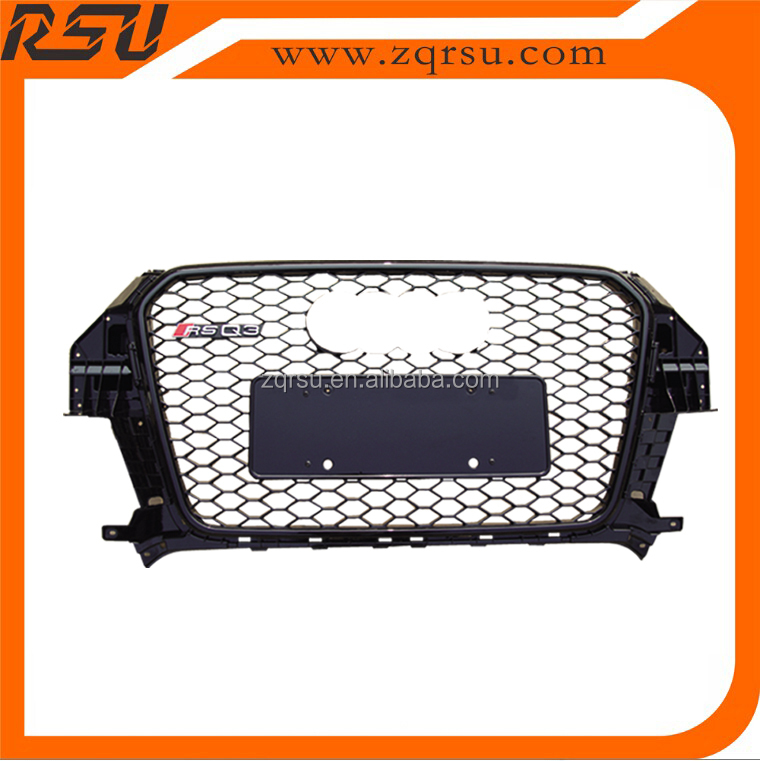 For audi A3 RSQ3 front grille mesh design ABS material 2012-2014
