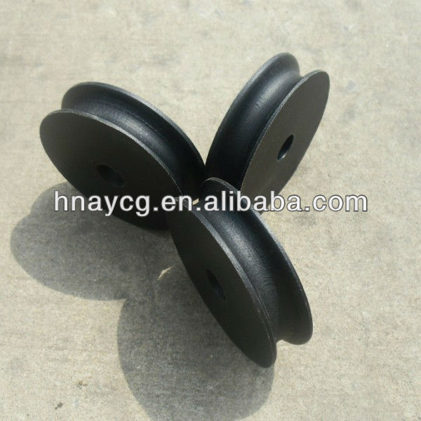 Black UHMWPE pulley wheel Rope Pulley for Door Guide Rail