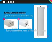 Keco Curtain Motor KA60A for electric sliding curtain track used in hotel curtain, home draperies with remote transmitters