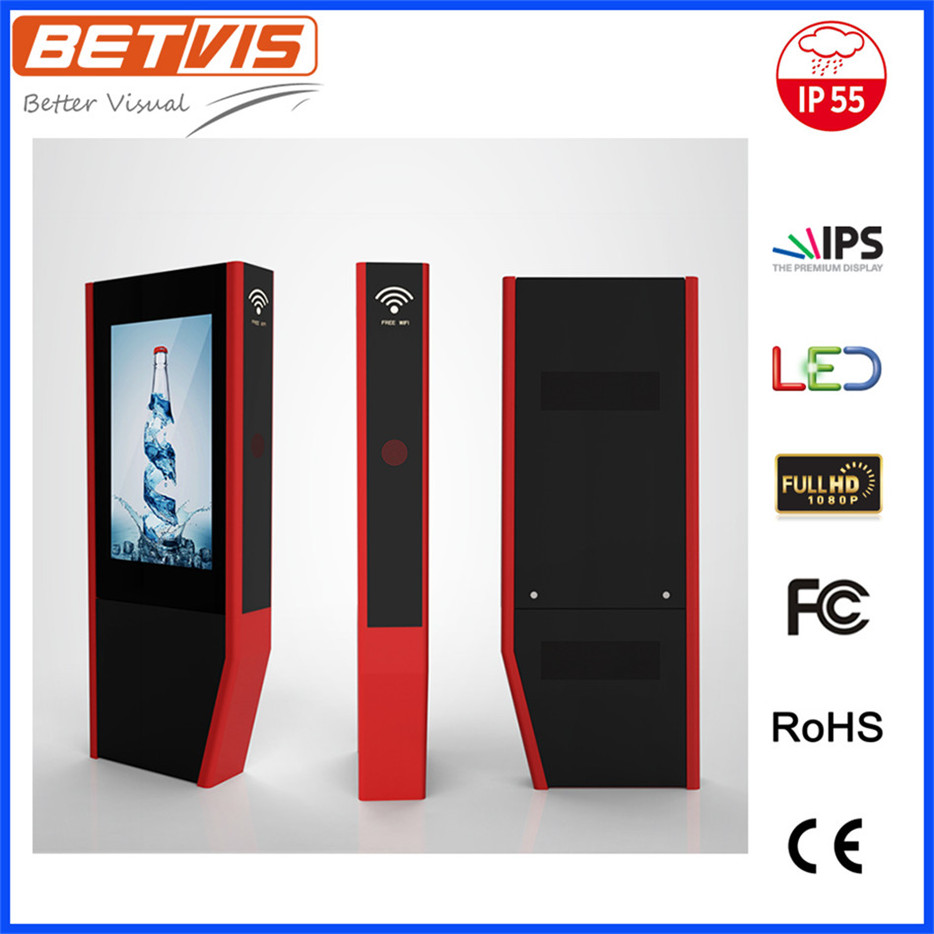 eye-catching Outdoor kiosk free stand ads LCD display for shopping street