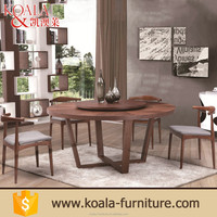 2016 New design natural round wooden industrial disassemble dining table seats 12
