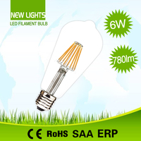 Cheapest A60 2w 4w 6w 8w E27 edison light bulb dimmable filament led bulb