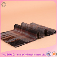 100% cashmere plaid thick scarf stock